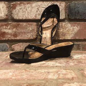 MONTEGO BAY CLUB cork low heel wedge sandal